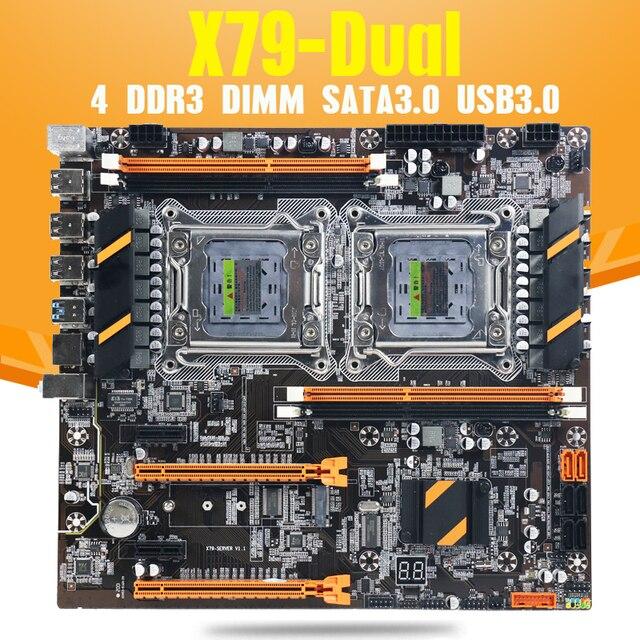 Atermiter X79デュアルcpuマザーボードlga 2011 4 * DDR3 reg ecc USB3.0プロセスとSta3 pci e 3.0マザーボード