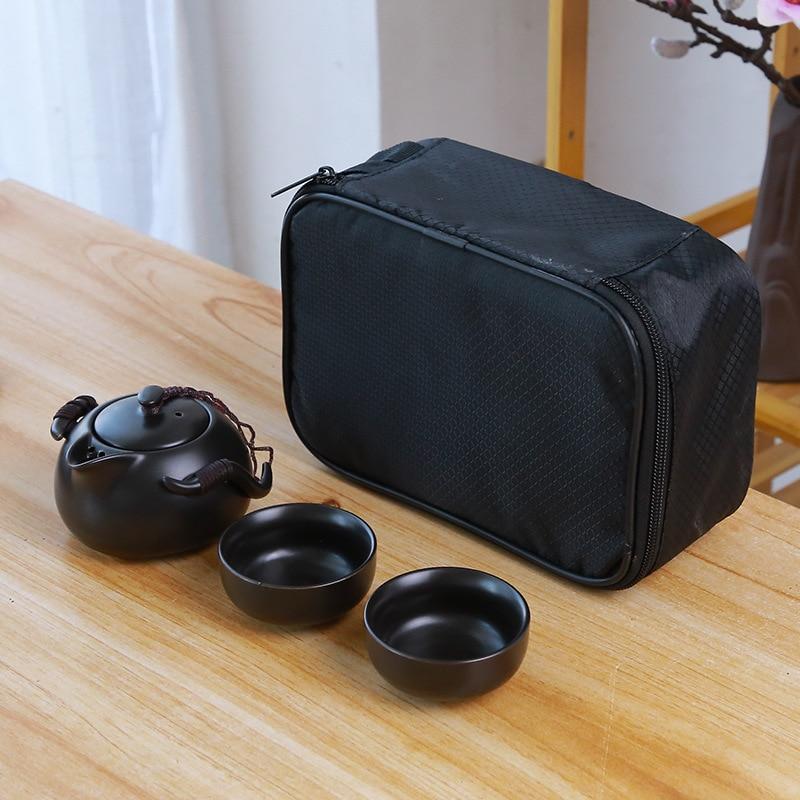 Ceramic teapot kettle gaiwan Chinese Travel Ceramic tea cup for puer chinese tea pot portable tea set drinkware Free shipping 8