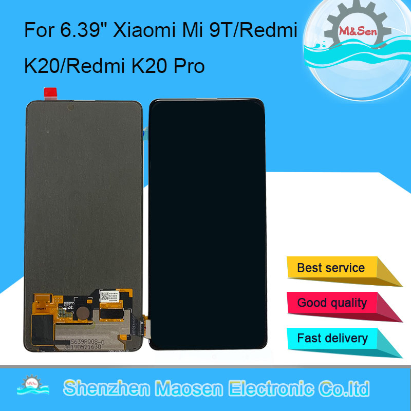 "Original M&Sen 6.39"" For Xiaomi Mi 9T AMOLED LCD Screen Display+Touch Panel Digitizer For Redmi K20 K20 Pro LCD Display"