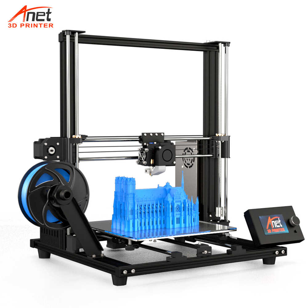 2019 Verbeterde Versie 300*300*350 Mm Impressora 3D Printer A8 Plus Anet Diy 3D Printer Kit Met micro Sd-kaart Usb Connector