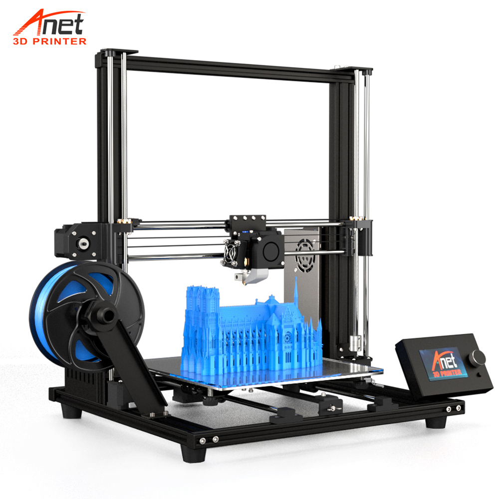 2019 Upgraded Version 300*300*350mm Impressora 3D Printer A8 Plus Anet DIY 3D Printer Kit With Micro SD Card USB Connector
