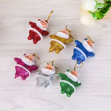 Get more info on the 6Pcs/Set Glittering Santa Claus Doll Pendant Ornaments DIY Crafts Xmas Tree Christmas Party Wedding Decorations Kids GiftCM