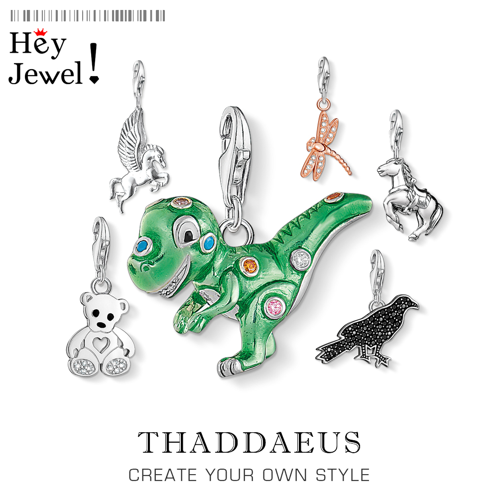 Green Dinosaur Charm,Thomas Style Club Good Jewelry For Women Men,2019 Summer Cute Gift In 925 Sterling Silver Fit Bag Bracelet
