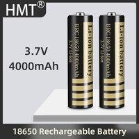2021 18650 3.7V 4000mAh batteria ricaricabile agli ioni di litio per torcia torcia 18650 batteria accumulatore batteria batteria al litio CE