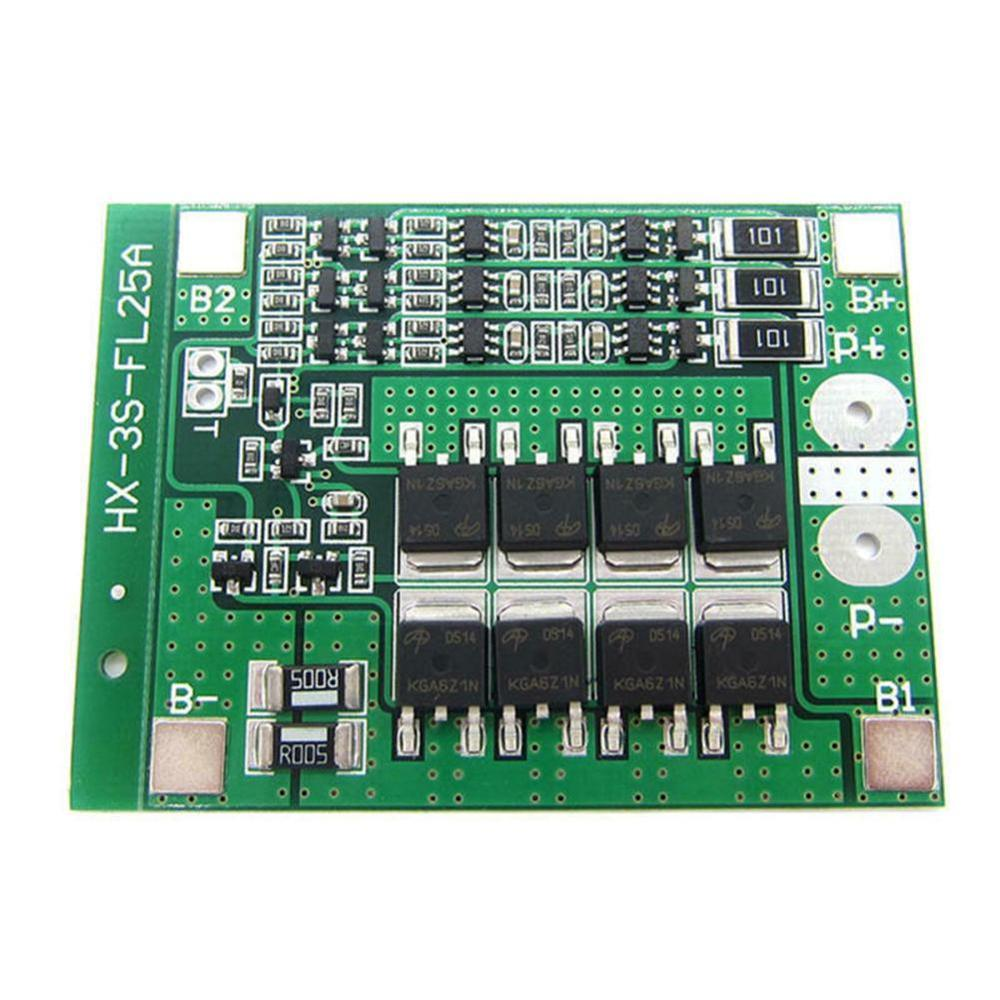 BMS 3S 30A 12V Li-ion Lithium 18650 Battery Protection Circuit BMS Packs PCB Board Balance Integrated Circuits Electronic Module