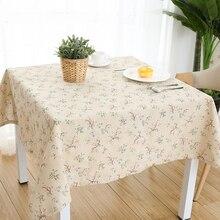 Скатерть хлопковая для стола маленький свежий садовый прямоугольный