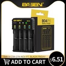 BASEN 18650 Батарея Зарядное устройство для 1,2 V 3,7 V 3,2 V 18650 26650 21700 18350 AA AAA литиево никель металл гидридного Батарея Смарт Зарядное устройство 5V 2A штепсельной вилки