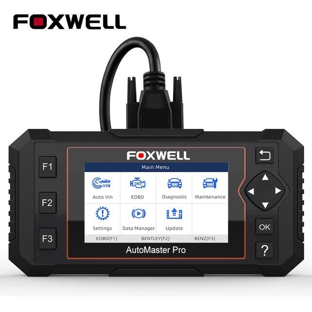 Foxwell NT614 Elite OBD2 Automotive Scanner Motore ABS Airbag AL Sistema EPB Reset Olio Codice Leggi Scanner ODB2 Strumento di Diagnostica