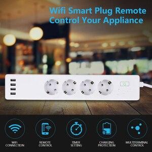 Image 5 - Wifi Smart Power Strip Surge Protector 4 Spina di UE Prese Presa Elettrica con USB App Telecomando Vocale da Alexa google Casa