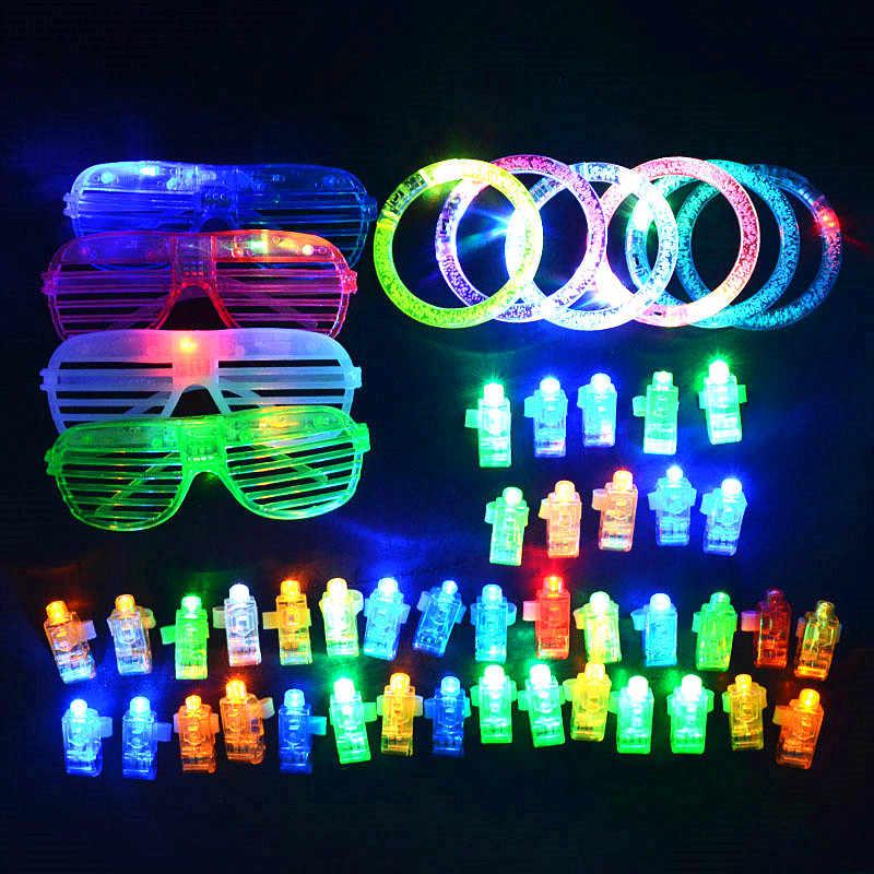 4 pcs Clignotants baguette DEL Glow Light Up Sticks Party Favors Rave Clignotant Flash