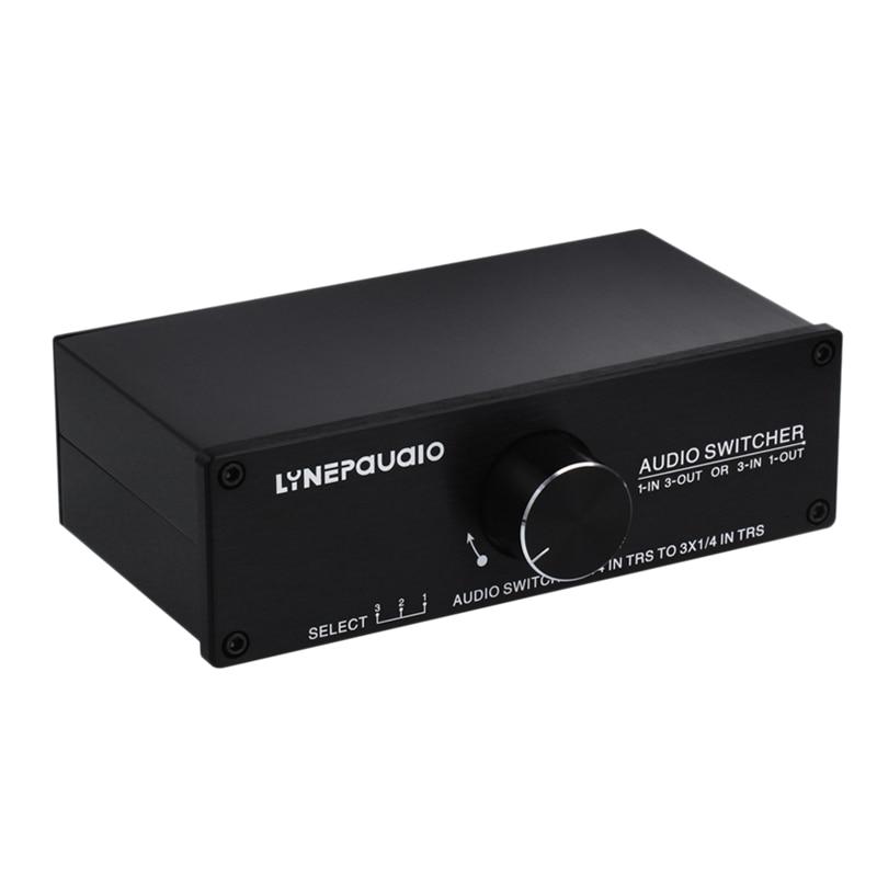 AMS Lynepauaio Audio Switcher 1 Input 3 Output Or 3 Input 1 Output Stereo Speaker Switch 1/4 Trs 6.35Mm Input And Output Interfa|Speaker Accessories| |  - title=