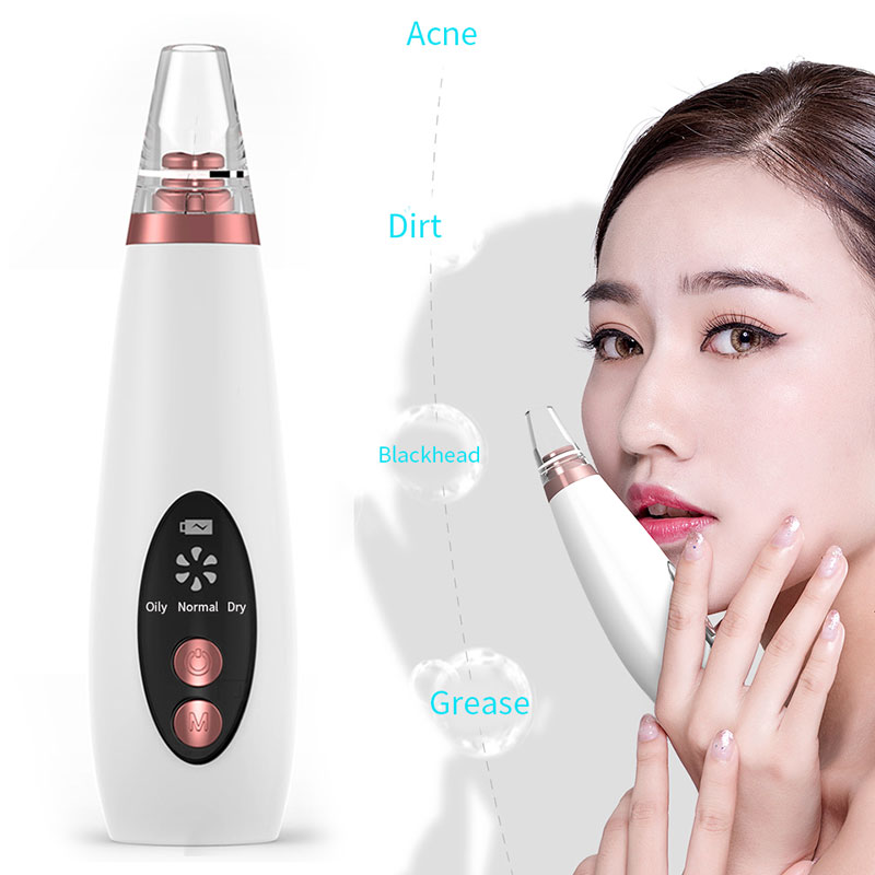 Effective Black Head Cleaner ABS Acne Cleaner Fast Blackhead Removal Equipment Cosmetic Instrument White Beauty Device