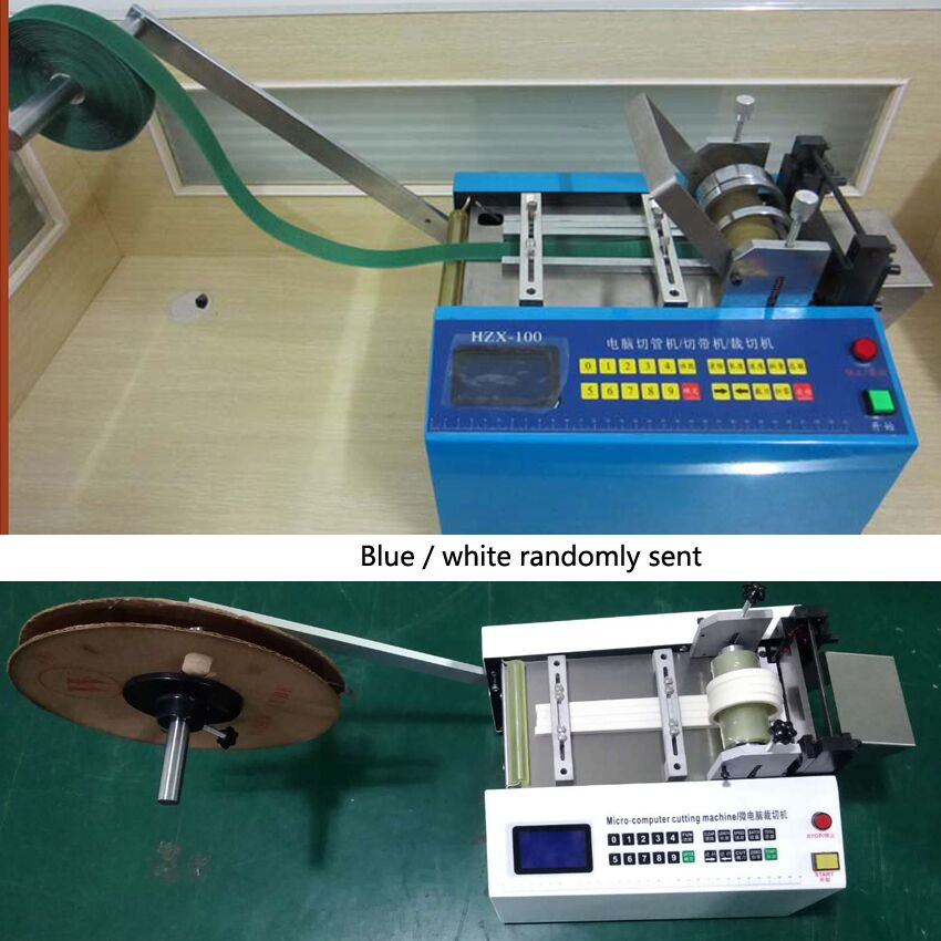 Neue Heiße HZX 100 Mikrocomputer Automatische Rohr Schneiden Maschine Wärme schrumpfschlauch PE Schlauch Schneiden Maschine 110V /220V 350W 0 100MM - 6
