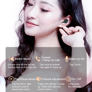 Image 4 - B5 TWS سماعات بلوتوث 5.0 سماعات لاسلكية مع هيئة التصنيع العسكري الرياضة مقاوم للماء سماعات أذن صغيرة سماعات آيفون iOS شاومي الهاتف