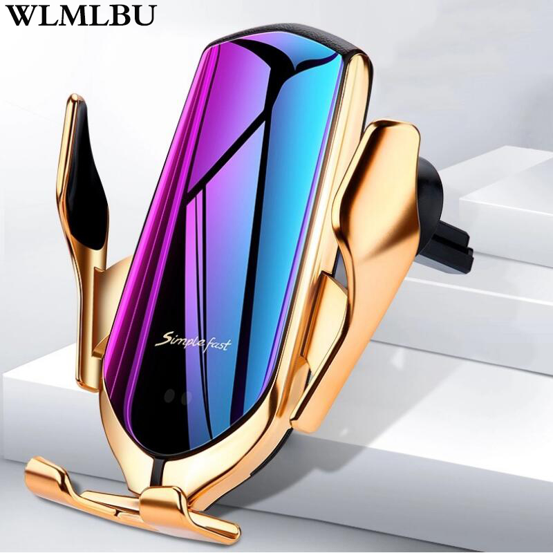 R1 Automatic Clamping 10W <font><b>Car</b></font> Wireless <font><b>Charger</b></font> For iPhone Xs Huawei LG Infrared Induction Qi Wireless <font><b>Charger</b></font> <font><b>Car</b></font> Phone Holder image
