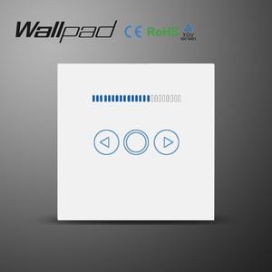 Image 1 - Wall الاتحاد الأوروبي المملكة المتحدة القياسية الزجاج لوحة جديد 220 فولت قابل للتعديل تحكم LED اللمس باهتة الجدار التبديل ل لمبة ضوء قابلة للخفت مصباح