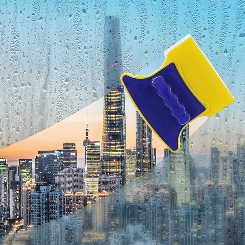 Double Sides Magnetic Window Cleaning Brush Clean Window Glass Prevent Falling Office Home Window Convenient Window Cleaner