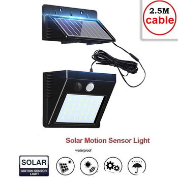 Solar Lamp Outdoor Led Light PIR Motion Sensor LED Solar Power Wall Street Garden Light Security Spotlight Waterproof Decoration