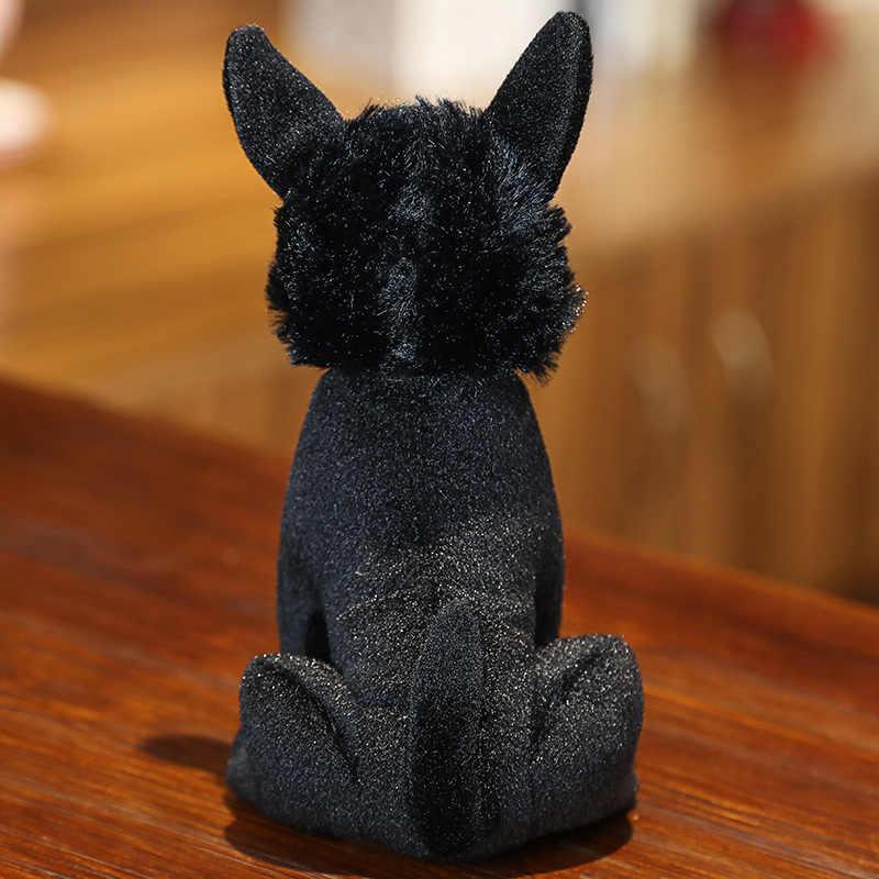 22 ซม.สีดำสุนัขของเล่น Doggy ตุ๊กตาของเล่นตุ๊กตา Plush ตุ๊กตาสัตว์จำลองของเล่นเด็กทารกปัจจุบัน