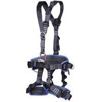 Uprząż do wspinaczki całego ciała regulowana uprząż pas bezpieczeństwa pas bezpieczeństwa alpinizm ratowniczy pas ochronny w Akcesoria wspinaczkowe od Sport i rozrywka na