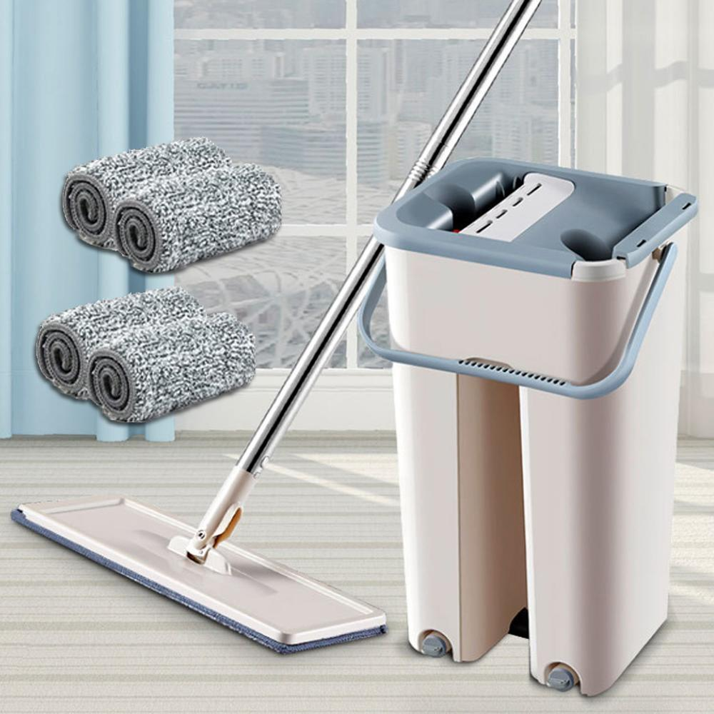 360 Degree Rotating Automatic Spin Mop for Self Floor Washing with Microfiber Pads 3
