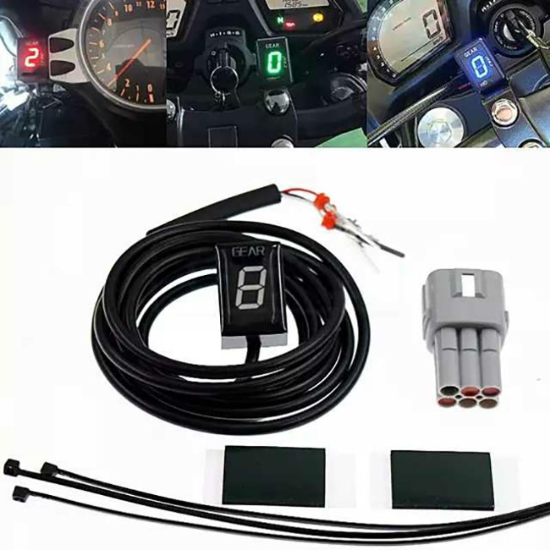 Индикатор шестерни для SUZUKI GSX1400/GSX600/GSF650/GSF1250, дисплей положения шестерни, рычаг переключения передач для мотоцикла