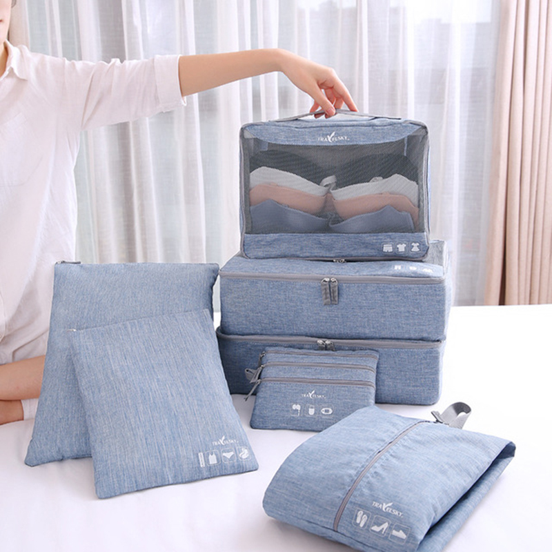 Travel Storage Bags Clothes Shoes Underwear Suitcase Organizer Cosmetic Zipper Pouch Home Wardrobe Luggage Pouch Kit Accessories