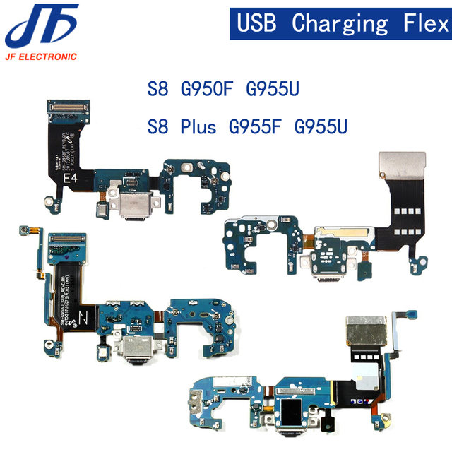 50 stks/partij Voor Samsung Galaxy S8 plus G955F/G955U lader opladen connector usb dock port plug flex kabel Lint