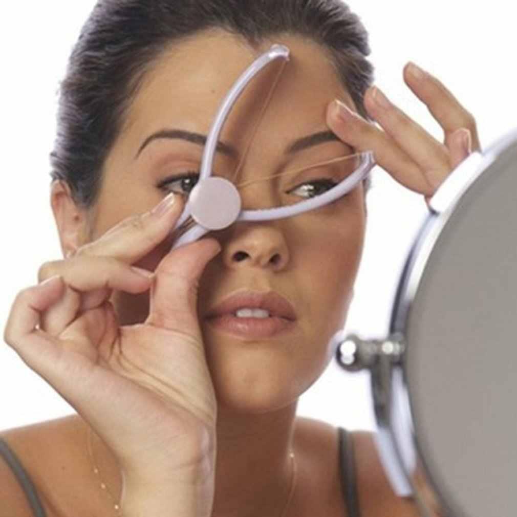 Frauen Kunststoff Baumwolle Moderne Haar Gesichts Körper Removal Threading Einfädler Epilierer System Slique Design Werkzeuge