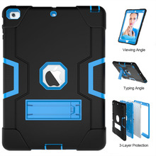 New Armor Shockproof Stand Holder Cover For iPad 10.2 2019 Case Kids Safe Heavy Duty Silicone Hard ipad inch