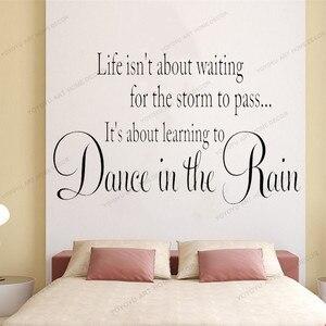 Жизнь не о том, чтобы ждать шторма данса в Рейне виниловая наклейка на стену виниловая надпись слова предметы домашнего обихода виниловая н...