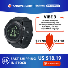 New Zeblaze VIBE 3 Flagship Rugged Smartwatch 33-month Standby Time 24h All-Weather Monitoring Smart
