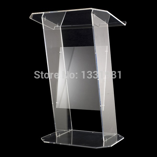 Clear Acrylic Podium Pulpit Lectern Manufacturer Supplies Acrylic Lectern Simple Plexiglass