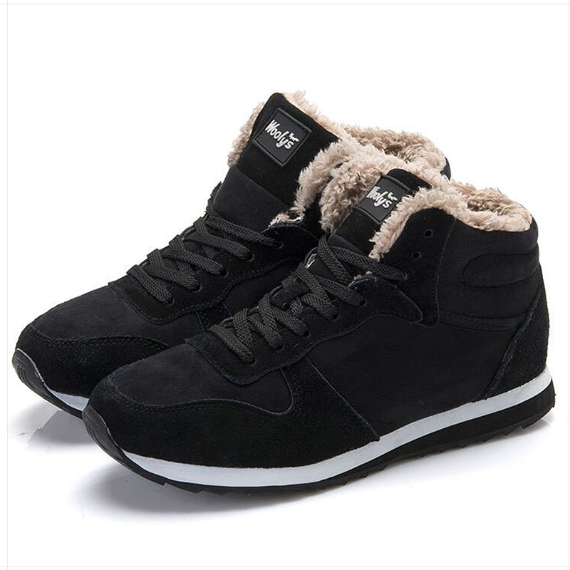 Men Shoes 2019 Winter Sneakers Plus Size 47 Leather Men Casual Shoes Keep Warm Winter Footwear Blue Black Chaussure Homme