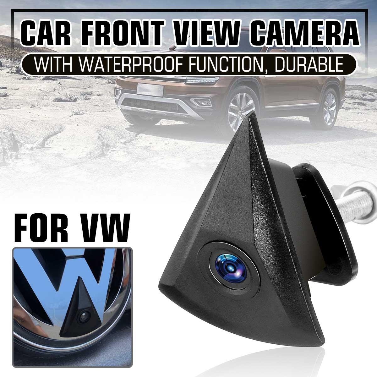 Ccd câmera de visão frontal automotiva, 170 graus para vw volkswagen golf jetta touareg passat polo tiguan bora