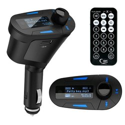 Transmisor FM t618 Kit de reproductor MP3 para Auto para coche, modulador de coche inalámbrico, Radio, Cargador USB, mando a distancia