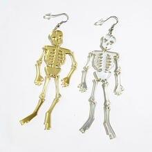 Новые Модные Акриловые висячие серьги золотого и серебряного