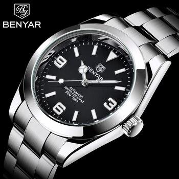 New BENYAR Design Top Brand Luxury Men Mechanical Wristwatch Stainless Steel Waterproof Watch Sports Military reloj hombre