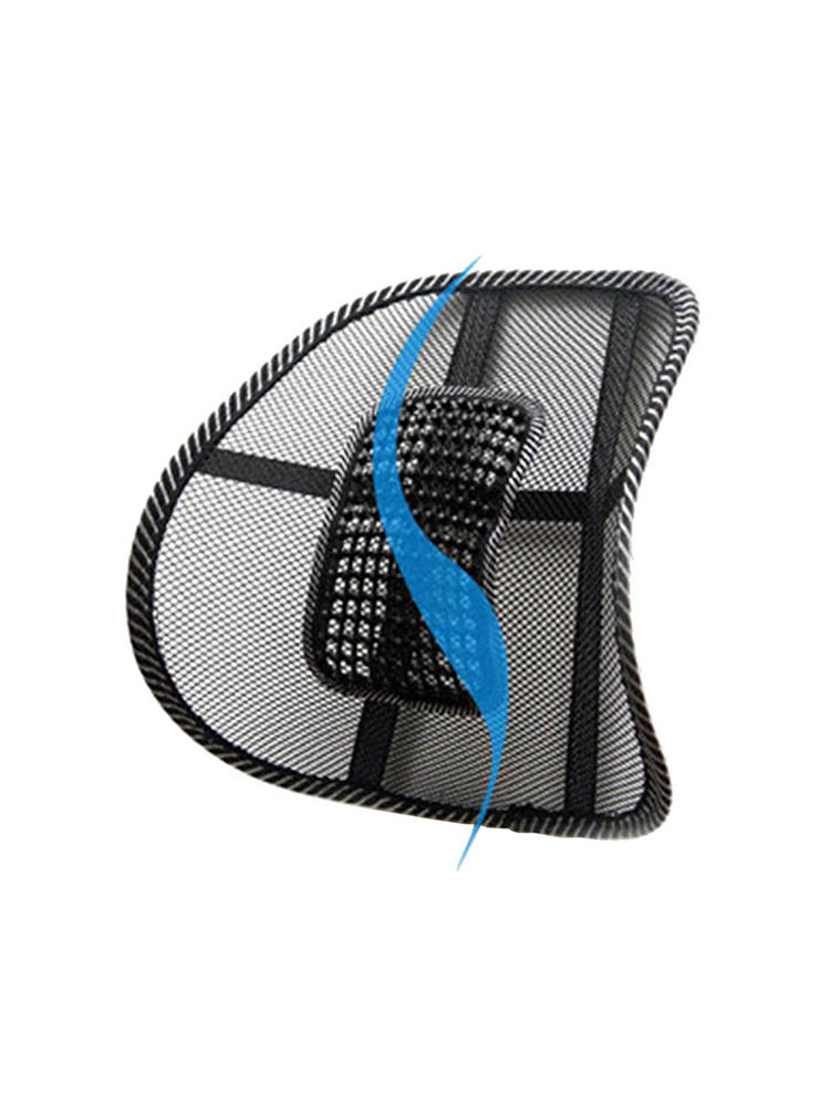 Cushion-Pad Ventilate Support Massage Mesh Office-Chair Car-Seat Back-Lumbar Black
