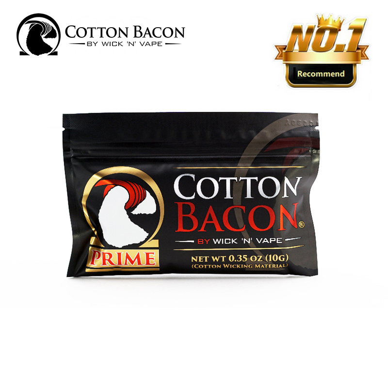 Organic Cotton Bacon Vape Wick N Vape Prime Made in USA Suitable For RDA RDTA RTA No Chemicals/Pesticides Rebuild Vape Cotton image
