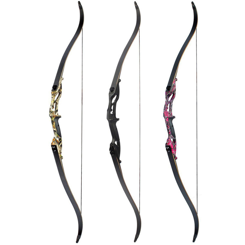 56 Inch Recurve Bow American Tranditional Long Bow With 17 Inches 30 35 40 45 50 Lbs Riser For Archery Hunting And Shooting