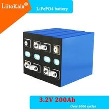 4pcs/lot LiitoKala 3.2V 200Ah lifepo4 battery 12V 200ah battery Suitable for Solar Energy long life 3500 Cycles EUUS TAX FREE