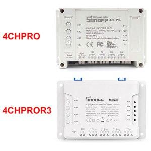 Image 2 - Sonoff 4CH Pro maison intelligente RF Wifi interrupteur 4 gangs 3 Modes de travail verrouillage automatique commutateur Wifi fonctionne avec Alexa