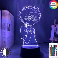 3d lampka nocna Anime Hunter X Hunter dla dzieci dziecko dekoracja sypialni Nightlight Manga prezent Hunter X Hunter 16 kolorów lampka nocna tanie tanio everso Night Light cartoon CN (pochodzenie) ROHS Z tworzywa sztucznego Żarówki led Touch Suche baterii HOLIDAY 0-5 w Acrylic