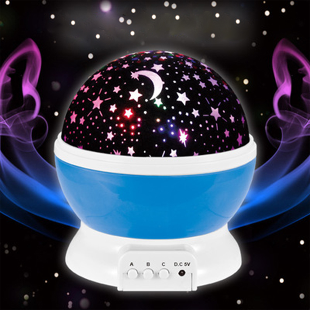 LED Rotating Projector Starry Night Light Children Room Star Sky Lighting Lamp Projector Rotation Night Lamp For Children Room