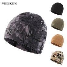 Ветрозащитные тепловые шапки для пеших прогулок, Зимние флисовые шляпы для мужчин, зимняя охотничья шапка, Теплая Лыжная шапка с принтом, уличные спортивные шапки Cyling