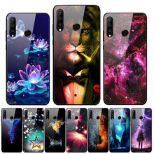 For Huawei Honor 9X STK-LX1 Case Tempered Glass Print Hard Back Case For Huawei Honor 9X Premium Cover Honor9X 9 X Global Bumper худи print bar for honor