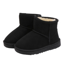 New Child Shoes Winter Boots For Little Girls Warm Fashion Shoe Kid Snow Waterproof Leather Boot 2 3 4 5 6 7 8 9 10 11 12 Years