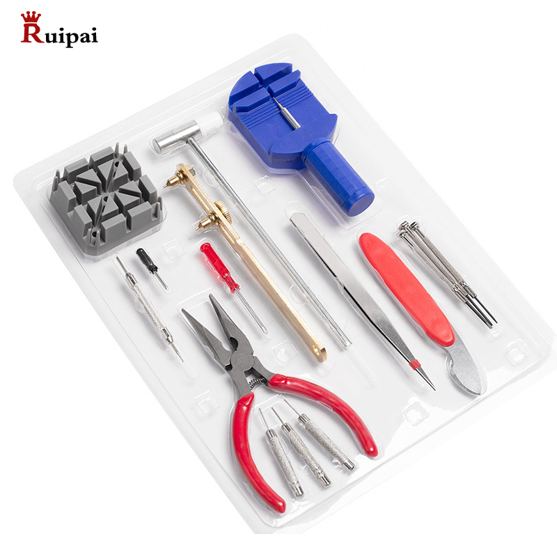 RUIPAI 16pcs Watch Repair Tool Kit Band Strap Remover Back Opener Screwdriver