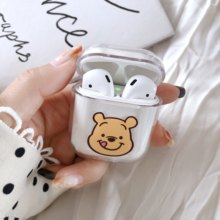 Bags for Air Pods Miki Minnie Mouse Dale Chip Bear Piglet Cartoon PC Clear Case for Apple Airpods Wireless Bluetooth Earphone(China)